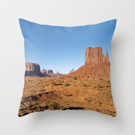 Evening light at Monument Valley Throw Pillow
