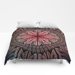 Fantasy flower and petals Comforters
