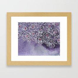 Art-ichoke in purple Framed Art Print