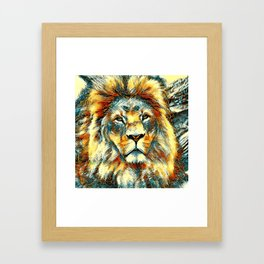AnimalArt_Lion_20171004_by_JAMColorsSpecial Framed Art Print