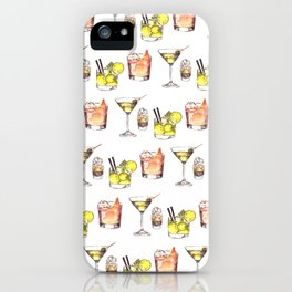 Watercolor Drinks iPhone Case