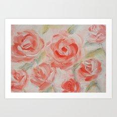 Petal Roses Art Print