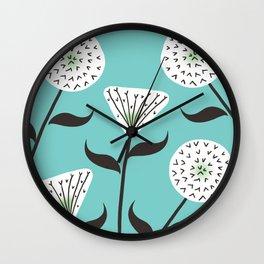 Large Print Dandelion Seeds Spring Summer Pattern Wall Clock