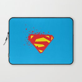 Square Heroes - man of steel Laptop Sleeve