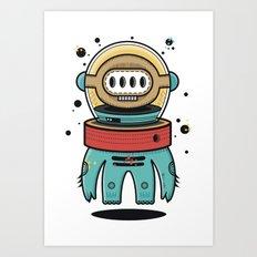 D-Nat boy Art Print