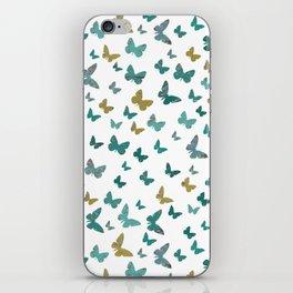 butterflies_yellow iPhone Skin