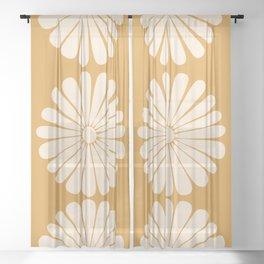 Retro Daisy XIX Sheer Curtain