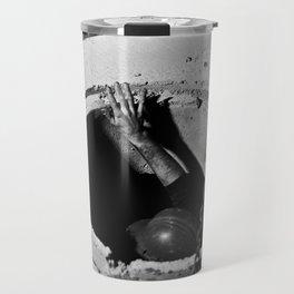 Placing a Manhole Travel Mug