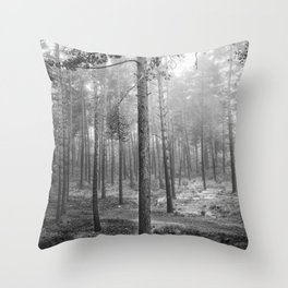 """Rectilineum"". BW. Secret places. Foggy dreams. Throw Pillow"