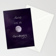 Always Kiss Me Goodnight Stationery Cards