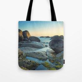 Ocean between the rocks by the beach Tote Bag