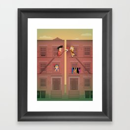 The Nick Yorkers in April Framed Art Print