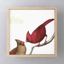 Northern Cardinals Framed Mini Art Print