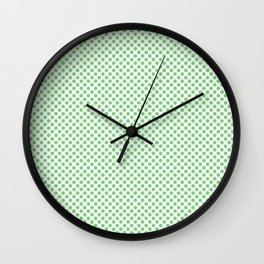 Summer Green Polka Dots Wall Clock