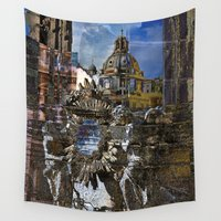 roman Wall Tapestries featuring Roman Impression  by CAPTAINSILVA