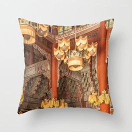 East Meets West, Changdeokgung Palace, Seoul Throw Pillow