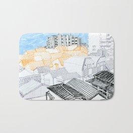 Tokyo landscape Bath Mat