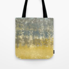 Blue and Gold Textures Abstract Tote Bag