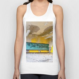 We Don't Need No Education Unisex Tank Top