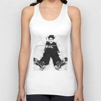 chaplin Tank Tops featuring CHAPLIN by Analy Diego
