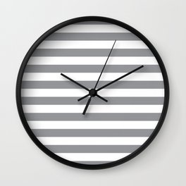 Horizontal Grey Stripes Wall Clock