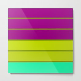 sTripes : Eggplant Purple Green Metal Print