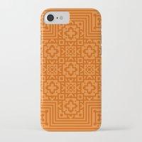 orange pattern iPhone & iPod Cases featuring Orange Pattern by White Wolf Wizard