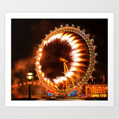 The London Eye Fireworks Art Print