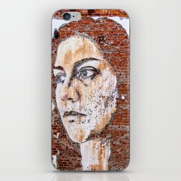 Painted women's face  iPhone Skin