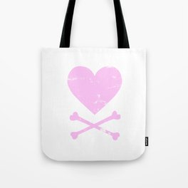 Heart and Crossbones - Pink Tote Bag