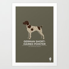 German Shorthaired Pointer Art Print