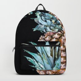 Pineapple On A Black Background #decor #society6 #buyart Backpack