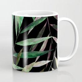 Color Bamboo Leaves at Night Coffee Mug