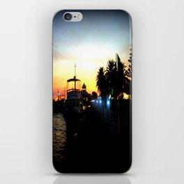 Night lights as Dusk settles over the Esplanade in Lakes Entrance - Australia iPhone Skin