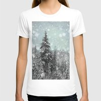jon snow T-shirts featuring Snow by Pure Nature Photos
