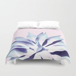 Solar Agave - Pastel blue on pink Duvet Cover