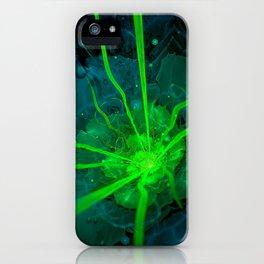 Atlantian Fractal -- Flower of the Long Sleep iPhone Case