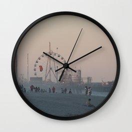 Seaside Sunset Wall Clock