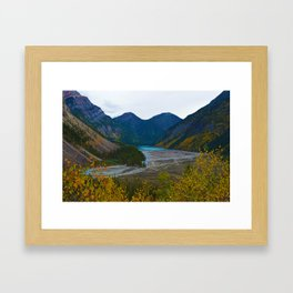 Kinney Lake in Mount Robson Provincial Park, BC, Canada Framed Art Print