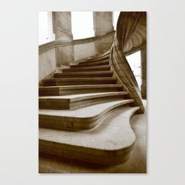 Sand stone spiral staircase 7 Canvas Print