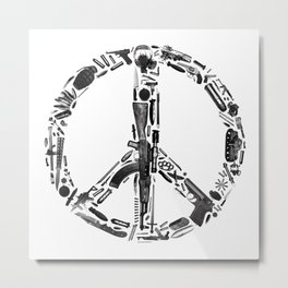 Find Peace (White) Metal Print