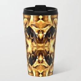 Gold Brown Fantasy Pattern Travel Mug