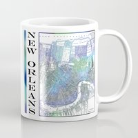 new orleans Mugs featuring New Orleans by Catherine Holcombe