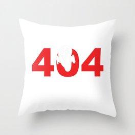 Error 404 Costume Not Found Halloween Party Shirt Throw Pillow