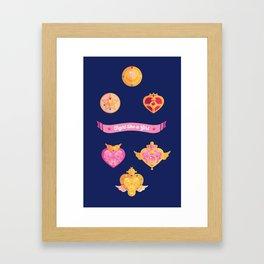 Fight Like A (Magical) Girl Framed Art Print