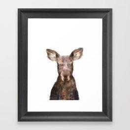 Little Moose Framed Art Print