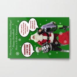 Danny Phantom Christmas and holiday card Metal Print