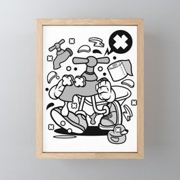 Faucet Framed Mini Art Print