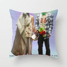 WHAT THE FUCK Throw Pillow