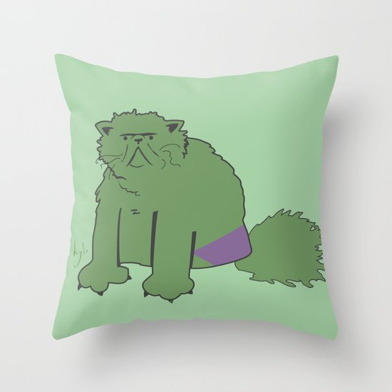 The Incatable Hulk Throw Pillow